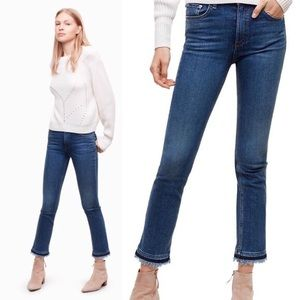 Rag & Bone Hana High Rise Straight Leg Ankle